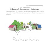 free suburban community worksheet