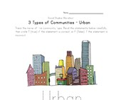 free urban community worksheet