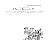 urban community worksheet