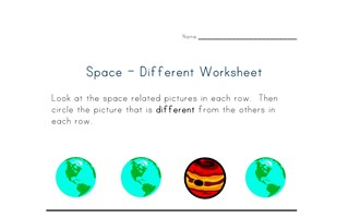 different things worksheet