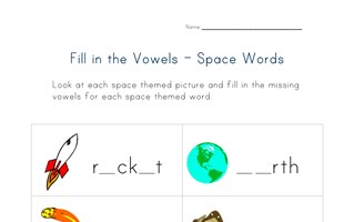 space words missing letters