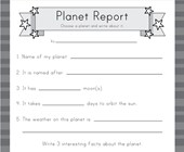 Planet Report Worksheet