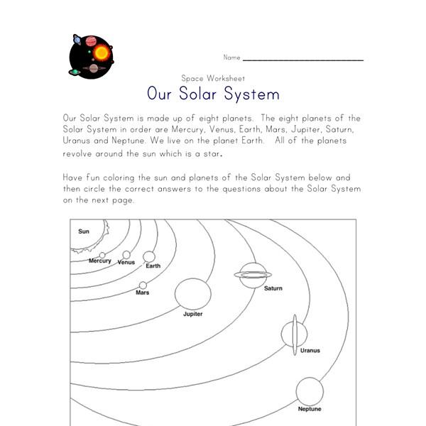 Printables Solar System Worksheets solar system worksheet all kids network