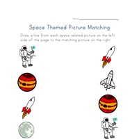 space matching worksheet