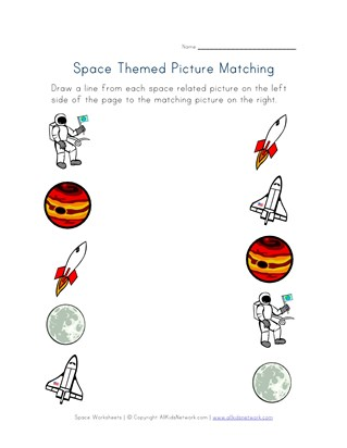 Space Worksheets | All Kids Network