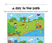 spot the difference park worksheet