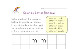 color by letter rainbow