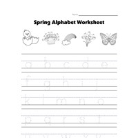 spring lowercase letters worksheet