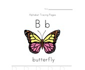 Letter B is for Butterfly Worksheet