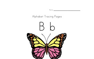 spring alphabet letter b worksheet