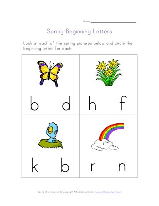 beginning letters spring