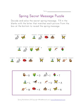 spring secret message puzzle
