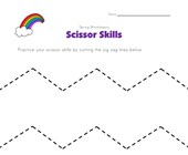 cutting zig zag lines worksheet