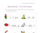 spring word worksheet