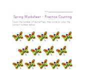 spring worksheet counting fourteen