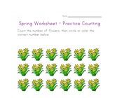 spring worksheet counting eighteen