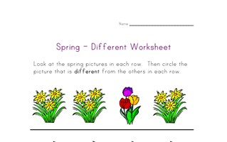 spring different worksheet