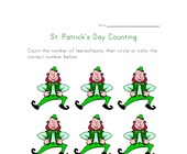 Leprechaun Counting Worksheet (Six)