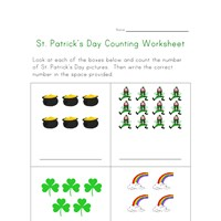 st patricks day counting practice worksheet