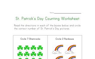 saint patricks day counting worksheet