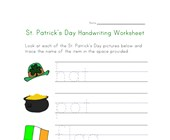 St. Patrick's Day Handwriting Worksheet