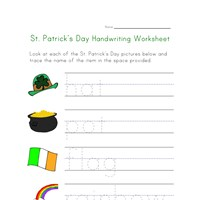 st. patricks day handwriting worksheet