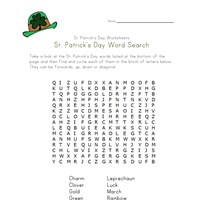 saint patricks day word search