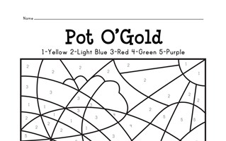 Pot of Gold Color By Numbers