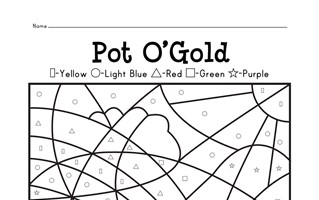 Pot of Gold Color By Shapes