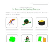 St. Patrick's Day Spelling Worksheet