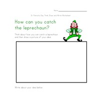 saint patricks day writing worksheet