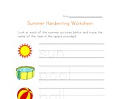 handwriting worksheet