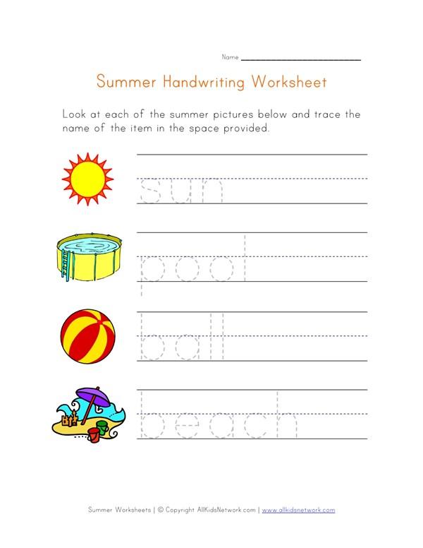 Handwriting Practice Worksheet | All Kids Network