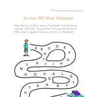 summer abc worksheet