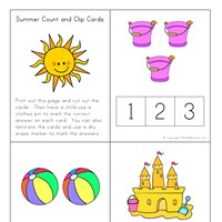 summer count and clip cards