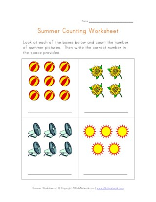 summer counting practice