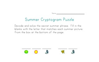 summer printable puzzle