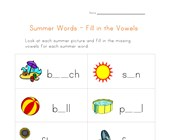 Missing Vowels Worksheet
