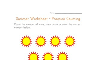 summer worksheet counting eleven