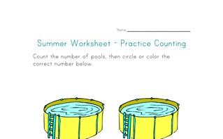 summer worksheet counting two