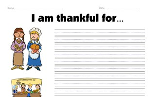 i am thankful for worksheet