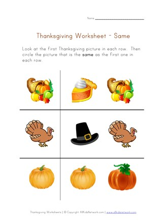 photograph relating to Thanksgiving Puzzles Printable named Thanksgiving Preschool Thoughts Worksheet - Exact All Young children