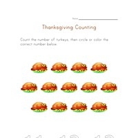 thanksgiving count to thirteen worksheet