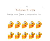 thanksgiving count to ten worksheet