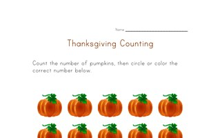 thanksgiving count to fifteen worksheet