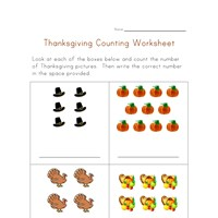 thanksgiving counting practice