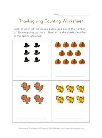 graphic about Thanksgiving Puzzles Printable named Thanksgiving Worksheet - Counting Prepare All Youngsters Community