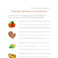 thanksgiving handwriting worksheet