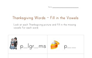thanksgiving word worksheet