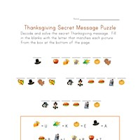 thanksgiving puzzle worksheet